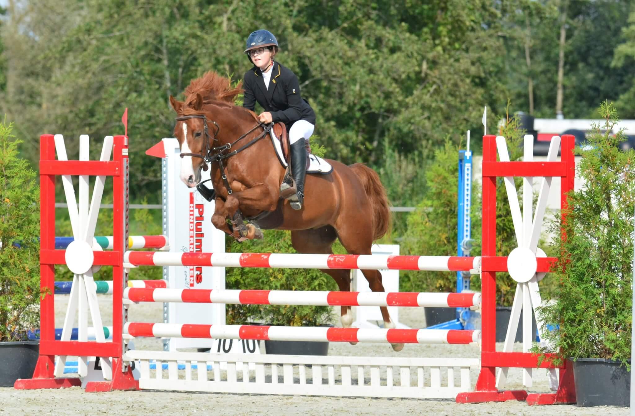 Foto's KNHS Springen pony's 17 september 2017