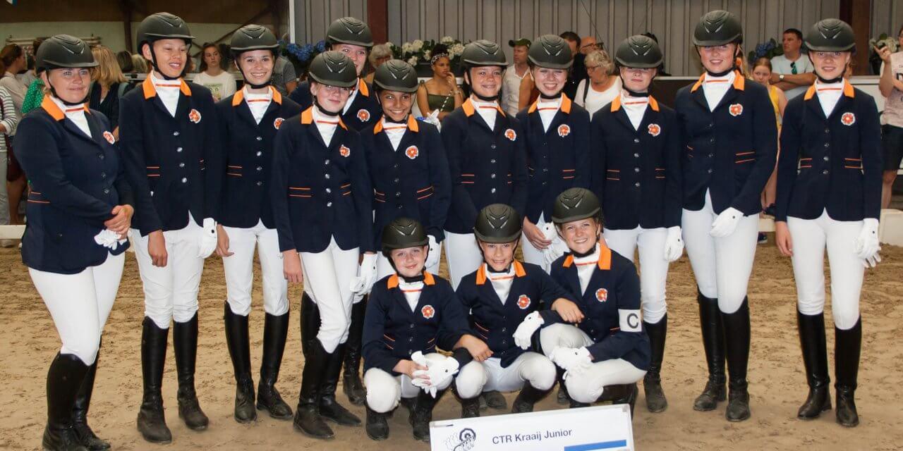 Carrouselteam RSC Kraaij Junior 6e op Nederlands Kampioenschap